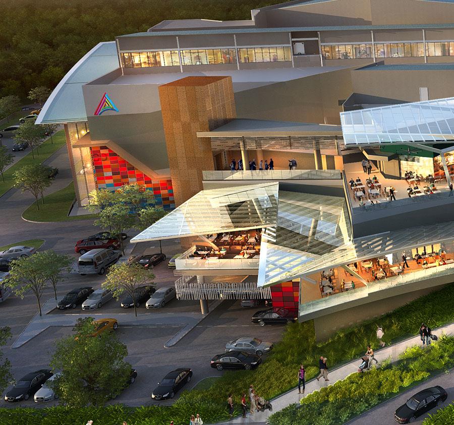 AltaPlaza Mall Panamá Render interior Mall, vía centenario centro comercial